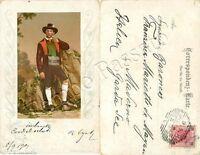 Cartolina di Merano (Meran), costume tradizionale - Bolzano
