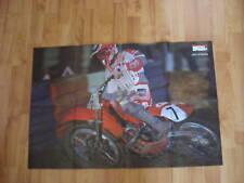 POSTER ANNO 1989 - JEFF STANTON e MOTO HONDA CR MOTOCROSS