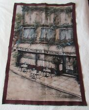 Paris France Cafe du Theatre Tea Room unfinished Tapestry Wall Hanging Panel top