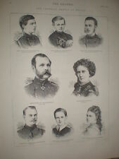 Czar Alexander II of Russia and his family 1873 prints