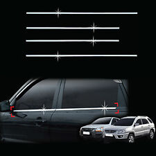 Chrome Door Window Sill Belt Molding Trim Cover for 05-10 Sportage