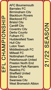 * NEW FOR 21/22 SEASON * Football Trading Cards - EFL Championship