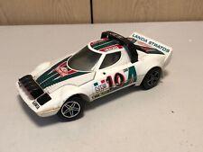 Vintage Con Pilas Alpes Lancia Rally Monte Carlo Coche Modelo de Plástico