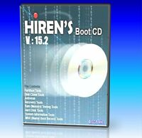 HIRENS BOOT DISC UTILITY CD, FIX REGISTRY VIRUS'S HDD PROBLEMS PC / LAPTOP NEW