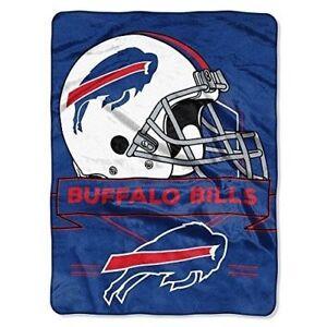Oversize Throw Buffalo Bills NY Royal Plush Super Soft NFL Raschel Blanket Twin
