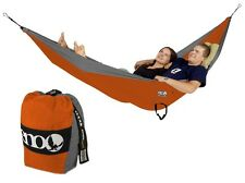 Eagles Nest Outfitters ENO Double Deluxe Hammock Orange/Grey