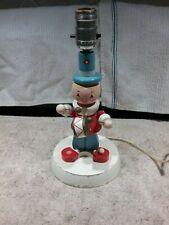 Vintage Children'S Wooden Toy Soldier Bedroom/Desk Lamp/Night Stand Light
