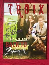 Troian Bellisario Keegan Allen Signed Troix Magazine In Person Autograph