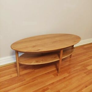 G Plan Solid Oak Coffee Table with Rack Storage Mid Century Vintage Style