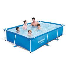 Bestway Schwimmbad Rechteckig in PVC mit Struktur 259x170xh61cm Garten 56403