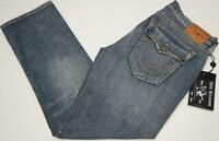 NWT $249 True Religion Ricky Relaxed Straight Denim Jeans Mens 36 40 Blue NEW