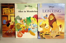 LOT of 3 90's Walt Dinsey Gallery Books Alice in Wonderland Prince & the Pauper