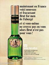 PUBLICITE ADVERTISING 096  1967  Fabergé  eau de toilette Brut pour homme