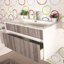 MOBILE BAGNO sospeso moderno 90 cm lavabo e specchio luce arredo Camelia