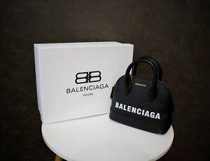 Balenciaga New Ville Mini Black Leather Shoulder Bag