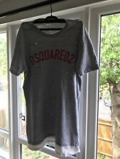 Dsquared2 Authentic Mens Grey Double Layered T Shirt Size XL (Well Sought After)