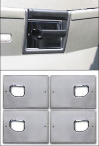 Hummer H2 Smooth Chrome Billet Interior Door Handle Plate Set   ( Set of 4 )