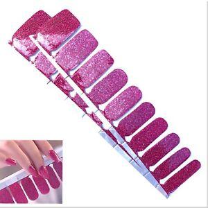 Jaysea Nails Polish Strips - Color Magenta Glitter Street Nail Art  - B4G1 Free!