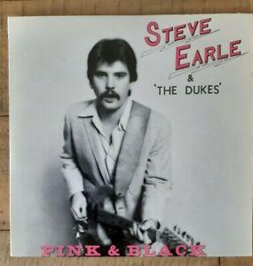 "STEVE EARLE & the Dukes 7"" EP Pink & Black 1st Edition Ltd 1000 LSI-8209 RARE 82"