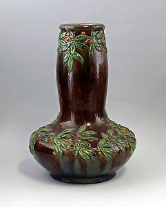 8345051 Große Jugendstil-Vase Majolika 1900 Frankreich/Belgien? JUGENDSTIL