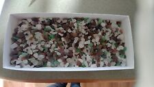 GENUINE BEACH GLASS SEA GLASS NATURALLY SURF Tumbled White, green brown over 1lb
