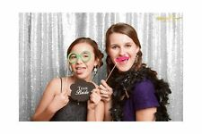4FT 7FT Silver Sequin backdrops, Sequin photo booth backdrop, Party backdrops
