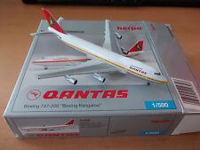 Herpa 1:500 Qantas Boeing 747-200 Boxing Kangaroo - Limited Extra Edition 2005