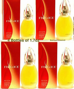 Lot Of 4 Pc - Fire and Ice by Revlon Perfume for Women 1.7 oz EDC Spray New