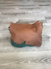 Green Leather Bag w Rustic Flap, Women Handbags, Rustic Handmade Bags, Becky