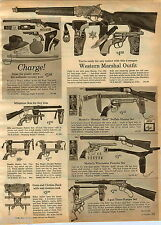 1964 ADVERT Mattel's Toy Buffalo Hunter Texas Ranger Marx Tommy Gun Rifle