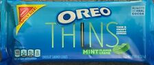 NEW FAMILY SIZE OREO THINS MINT FLAVOR CREME SANDWICH COOKIES 13.1 OZ 371g PACK