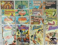 Lot of 130: Assorted Comics Marvel, DC, Iron Man, Justice League,New Teen Titans