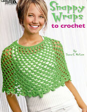 Snappy Wraps to Crochet ~ 4 Lovely Light & Lacy Ponchos Shawls crochet patterns