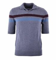 DOLCE & GABBANA RUNWAY Knitted Cashmere Polo Shirt Grey 04234