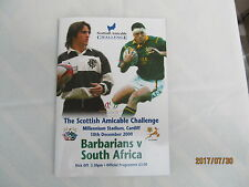 Barbarians v South-Africa. Rugby Union. 2000.