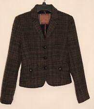 United Colors Of Benneton Ladies Jacket Tweed Cropp Lined Fall Taglia 42-USA 8 Y