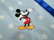 personalized boy / girl blue with white star bassinet/ cot mickey mouse blankets