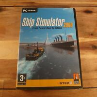 SHIP SIMULATOR 2006 PC CD Rom Ship SIM From Powerboat To Titanic experience New