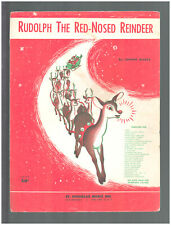 Rudolph The Red-Nosed Reindeer 1949 Vintage Christmas Sheet Music