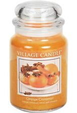 Village Candle Orange Cinnamon Large Glass Jar Scented Candle Two Wicks