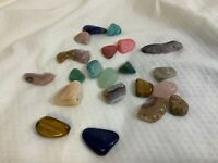 Polished Rock Lot of 22 Various Sizes and Colors