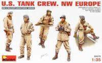 MiniArt 1/35 US Tank Crew NW Europe (5) Plastic Model Kit 35070