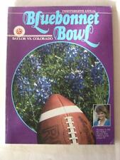 1986 BLUEBONNET BOWL PROGRAM UNIVERSITY OF BAYLOR VS. UNIVERSITY OF COLORADO
