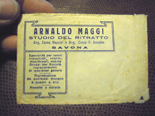 "BUSTA PORTA FOTOGRAFIE O NEGATIVI "" STUDIO MAGGI SAVONA "" VINTAGE - - C9-1357"