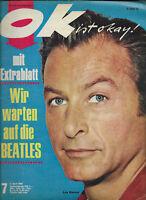 ok ist okay Nr.7 vom 4.4.1966 Beatles, Francoise Hardy, Petula Clark, Lex Barker