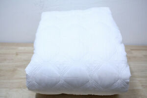 Hotel Collection Quilted  FULL/QUEEN Coverlet Basic Cane Cotton WHITE A11031