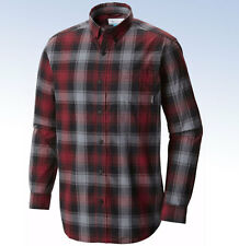 COLUMBIA Sportswear Men's Rapid Rivers II Long Sleeve - Red Element Grid - Small