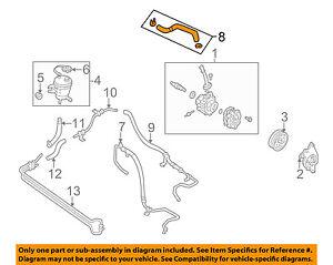 MAZDA OEM 2004 Tribute-Power Steering Suction Hose EC0532688E
