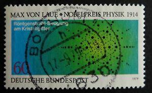 Timbre. Allemagne. n°866. Max Von Laue   année 1979.