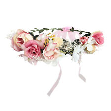 Bridal Large Flower Crown Floral Women's Hairband Headband Wreath Party Wedding